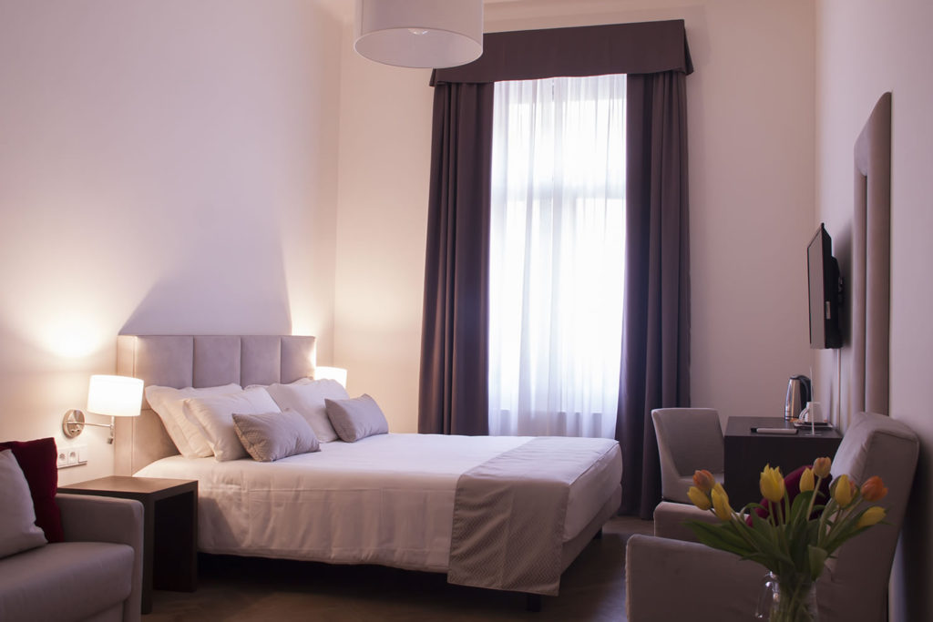 Double room MH Suites Palace Hotel in Prague.